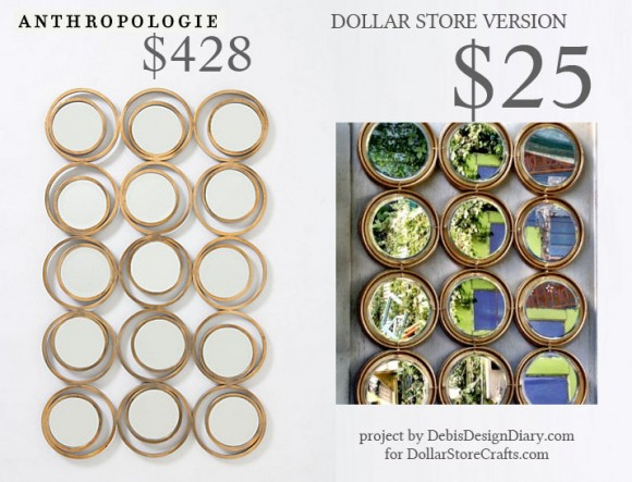 57 exciting dollar store diy projects page 4 of 6 for Dollar store mirror craft