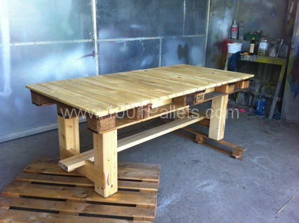 37 amazing diy pallet tables - Fabriquer une table a manger en palette ...