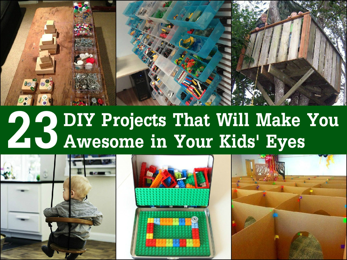 23 diy projects that will make you awesome in your kids for Diy crafts with things around the house