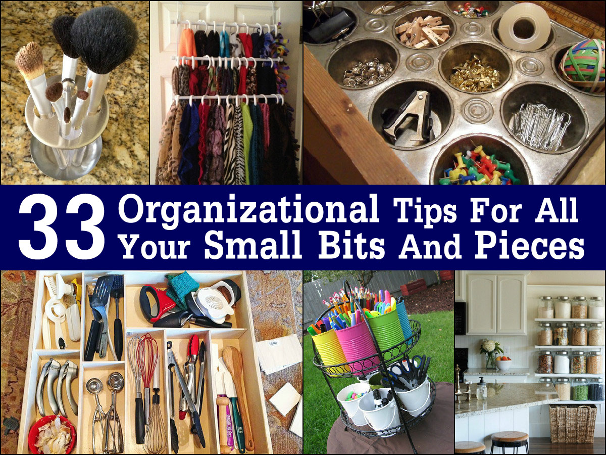 33 Organizational Tips For All Your Small Bits And Pieces