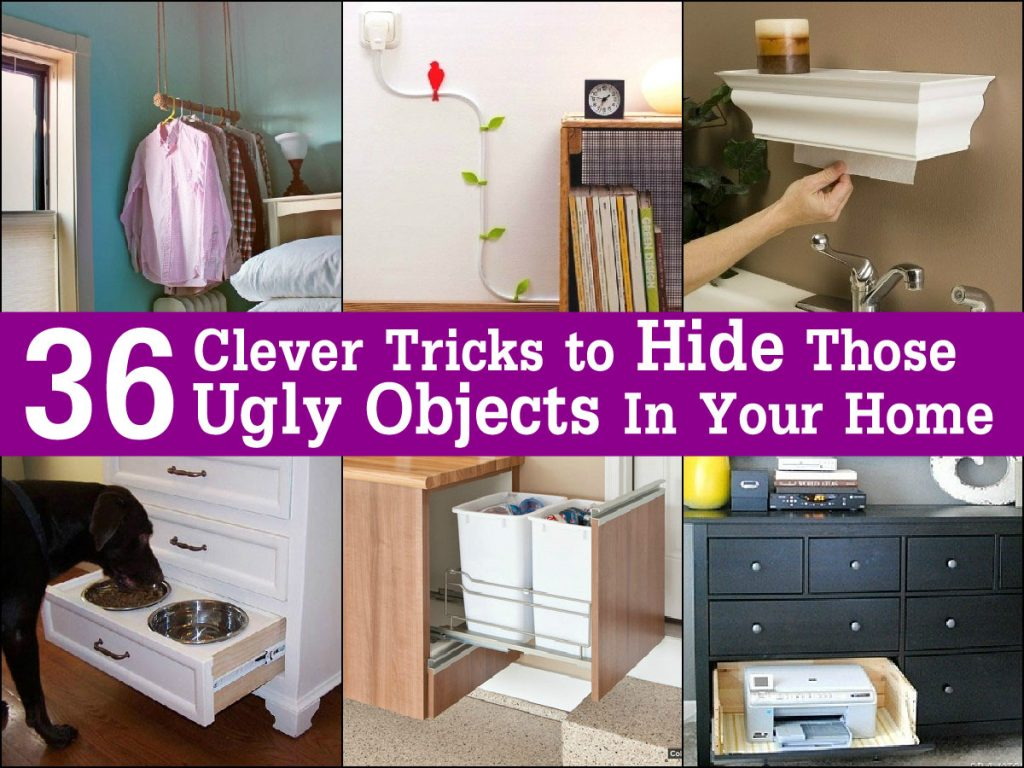 36 Clever Tricks to Hide Those Ugly Objects In Your Home Page 2 of 4  #8B0889